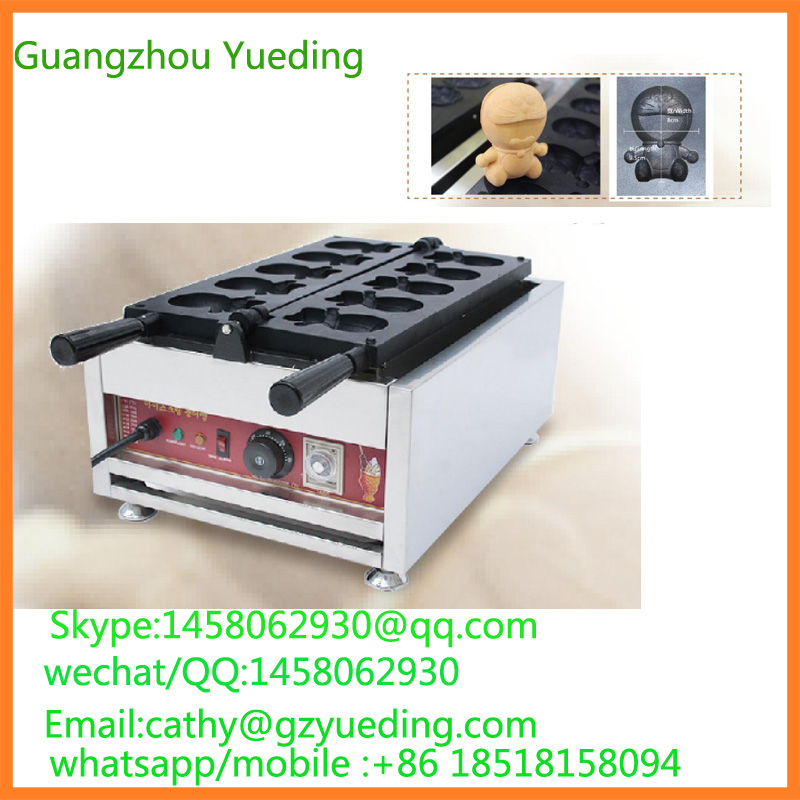 China Cartoon waffle maker,blue cat waffle maker,commercial waffle making machine directly factory price commercial electric double head egg waffle maker for round waffle and rectangle waffle