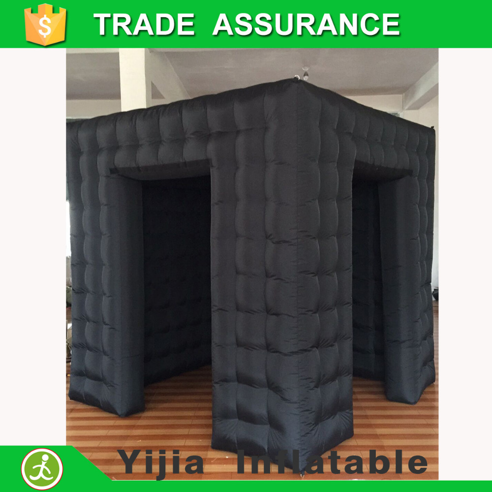 Color booth online - 2 Doors 8ft Black Color Photobooth Open Air Cube Tent Inflatable Photo Booth With Door Corver
