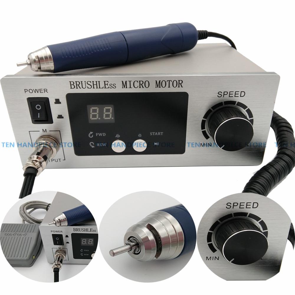 2018 spedizione gratuita Dental Lab macchina Brushless micro motor Gioielli incisione macchina di Lucidatura Unità con manipolo Micromotore