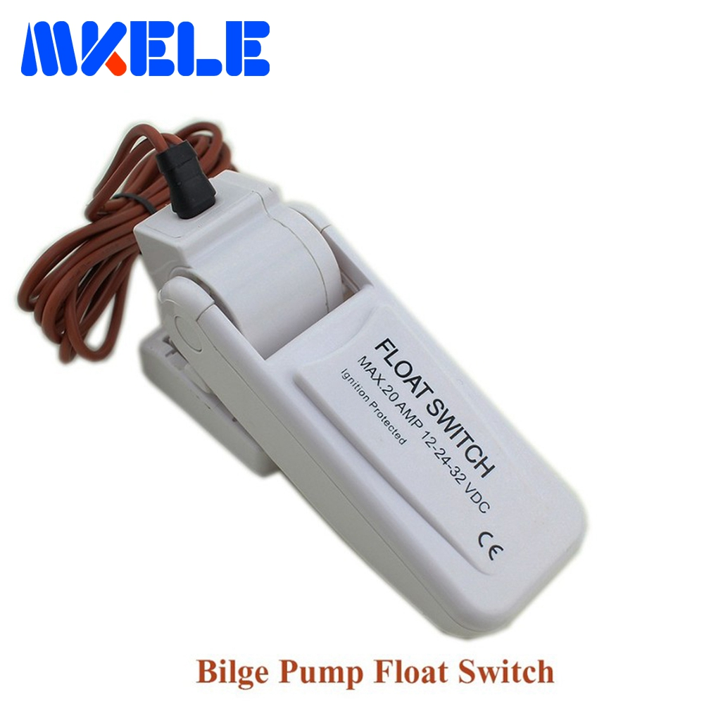 цена Free Shipping MK-CFS12 New Automatic Electric Water Pump Float Switch DC Bilge Pump Switch 12V-32V White For Boat Yacht