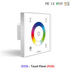 EX3S настенное крепление светодио дный rgb Strip контроллер AC100V-240V Сенсорная панель 220 В 2,4 ГГц и DMX512 двойной 2,4 ГГц и DMX, rgb-контроллер