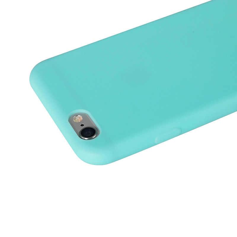 SIXEVE マカロン色シリコーンマットケース iphone XS Max X XR 5 5SE iPhone 6 S 6 S プラス iPhone 7 8 7 プラス 8 プラスソフト裏表紙