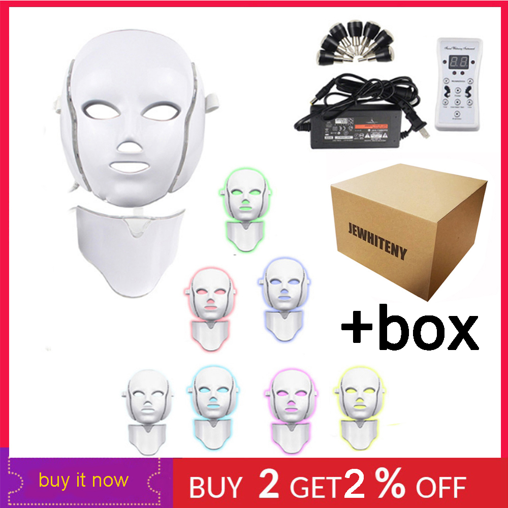 7 Colors Photon Therapy Electric LED Facial Mask Rejuvenation Anti Acne Wrinkle Tightening Skin Microcurrent Beauty Salon Tool7 Colors Photon Therapy Electric LED Facial Mask Rejuvenation Anti Acne Wrinkle Tightening Skin Microcurrent Beauty Salon Tool