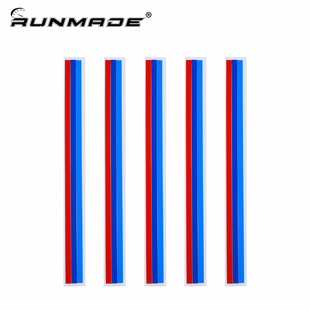 Runmade 20*0.5cm/1.5cm 3 Colors Grille Kidney M Sport Front Reflective Strip Sticker Vinyl Decal Badge Emblem For BMW
