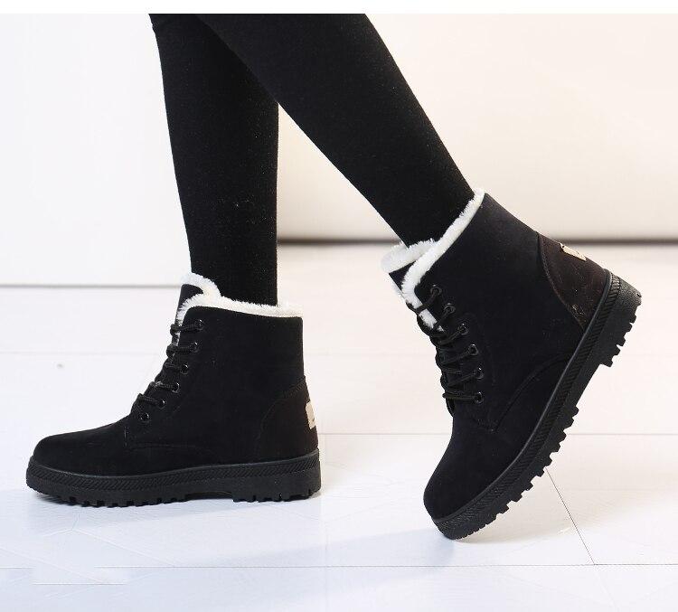 Women's High Heels Plush Winter Boots 12