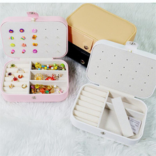 Travel Jewelry Case Display Necklace Earrings Storage Cases For Women Makeup Organizer Leather