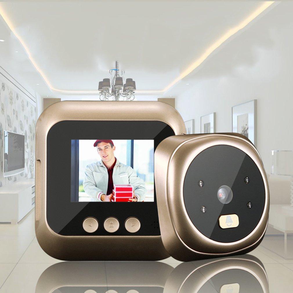 Nouveau 2.4 pouces TPS HD IR caméra judas visionneuse 135 degrés oeil de chat sonnette Vision nocturne prise de Photo/enregistrement vidéo
