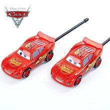 Disney Cars 3 Kids Interphone Juguetes Electronic Toys Walkie Talkies Intercom Interphone Chiritmas Gifts Toys for Children Boys