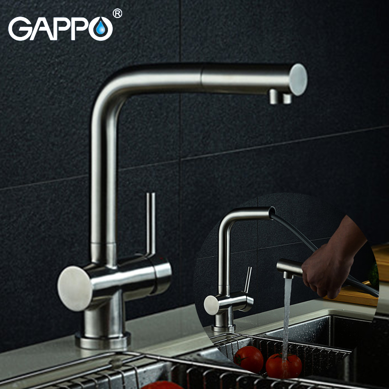 GAPPO Kitchen Faucet Pull Out Kitchen Sink Faucet Water Tap Kitchen Mixers Crane Taps Water Faucet Deck Mounted