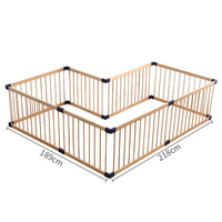 Solid wood gate baby playpen export no smell health baby fence Children's game fence Many Size