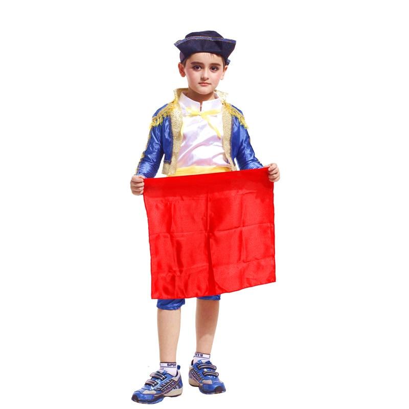Children Halloween Bullfighter Costumes Boys Kids Spanish Matador Cosplay Fancy Dress