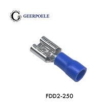 Borne de pressage à froid, prise femelle, ressort pré-isolé, terminal en cuivre, Cosse de nez, Sertir électrique, 20 pièces/lot, FDD2-250