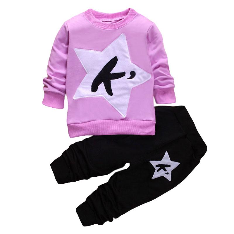 LZH Children Clothes 17 Autumn Winter Girls Clothes Set T-shirt+Pant 2pcs Outfits Kids Boys Sport Suit For Girls Clothing Sets 13