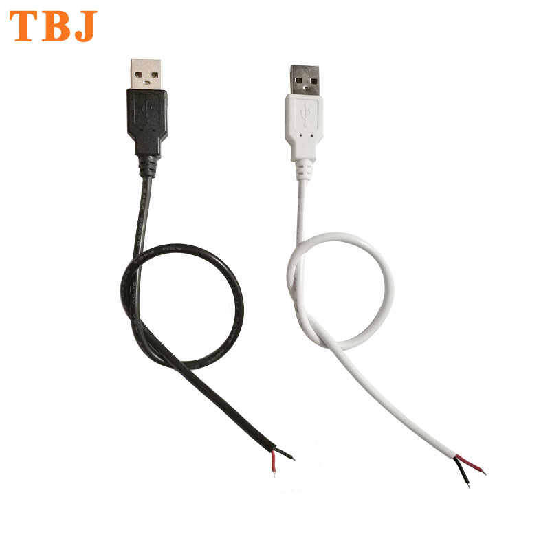 22AWG 30 cm 50 cm 1 m 2Pin Cable USB conector de Cable de conexión USB para un solo Color 5050 de 3528 tira de luz LED Flexible 5730