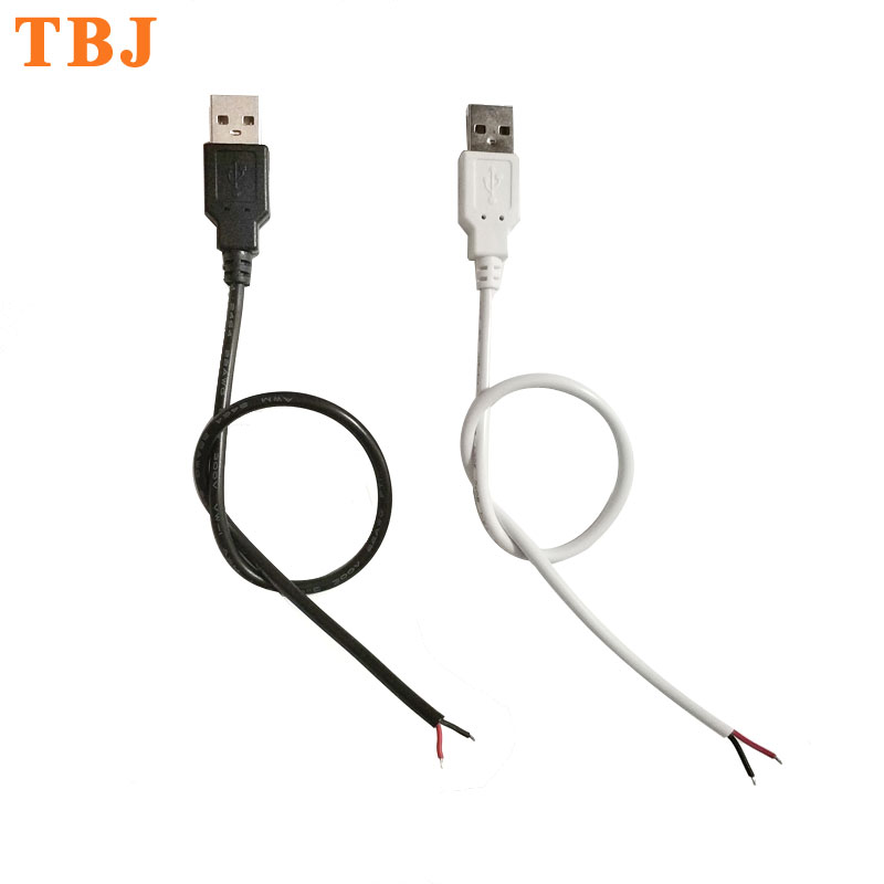 22AWG 30cm 50cm 1m 2Pin Wire USB Connector DIY USB Connect Cable For Single Color 5050 3528 5730 Flexible LED Strip Light