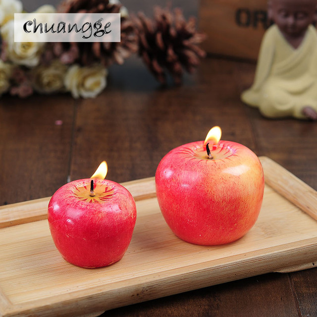 big christmas decorative simulation apple candles red big 11 valentines day gift wedding christmas