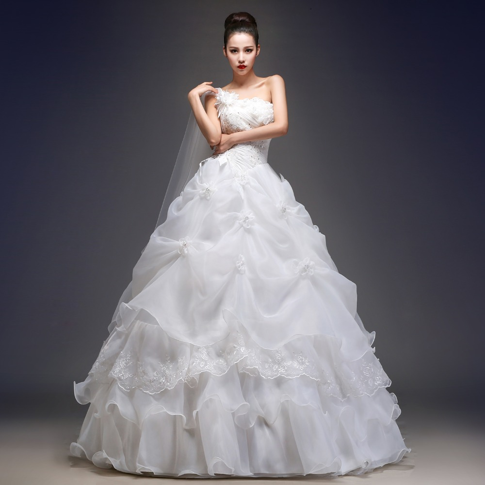 Princess style wedding dress 2016 bride dress sheap simple for Image of wedding dresses