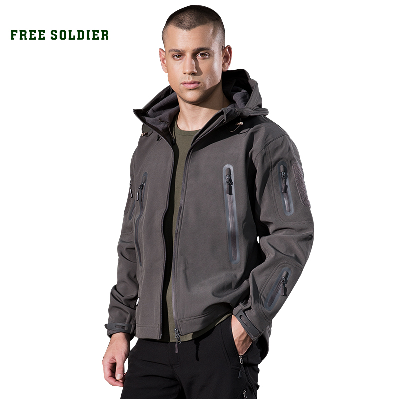 FREE SOLDIER outdoor camping instant waterproof windbreaker softshell jacket men s coat thermal outwear clothing large