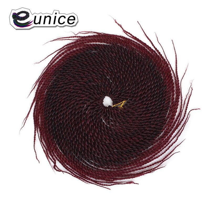 Eunice Produtos de Cabelo Torção do Crochet Cabelo Extensões de Cabelo Ombre Tranças De Crochê Torção Senegalês 1-6Packs 18