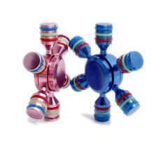 โลหะอยู่ไม่สุขปินเนอร์ที่ถอดออกได้กันน้ำมือปั่นEDC U Nisexนิ้วทองเหลืองปินเนอร์บรรเทาความเครียดผู้ใหญ่เด็กของเล่น