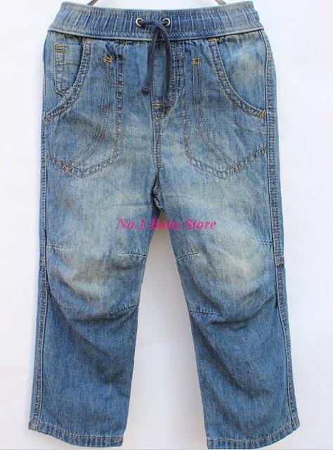 Высокое качество мыть джинсы для детей, Мягкий хлопок джинс с эластичный пояс, Бесплатная доставка брюки для мальчиков и девочек