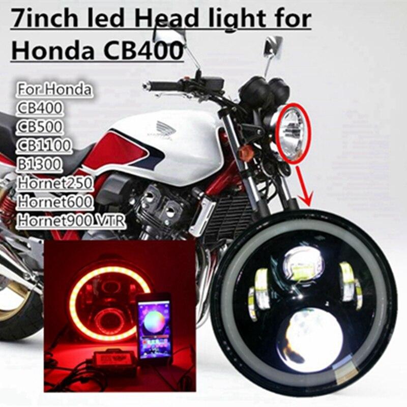 Для Honda фар Bluetooth телефон приложение Управление Halo 7 дюймов мотоцикл фар для Honda Hornet свет CB1300 Hornet 250 600