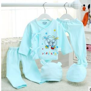 new Baby boy clothes baby girl clothes baby Clothing Set 100% Cotton newborn baby clothes  5pcs/set vestidos infantis