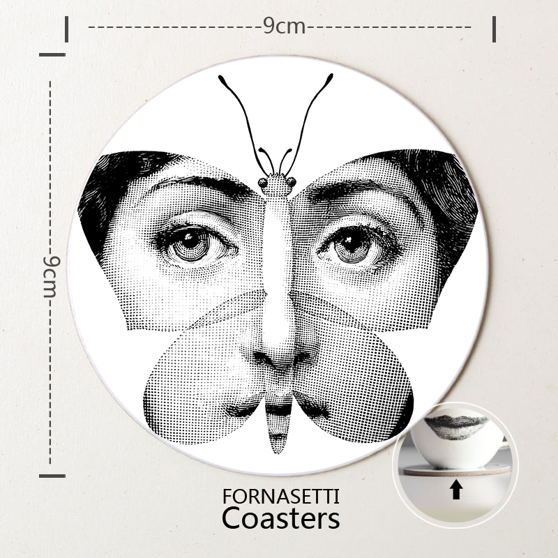 Europe Artesanato Em Madeira Quebec Cristmas Decoration Craft  Fornasetti Coasters Home Decor Wooden Tablemat