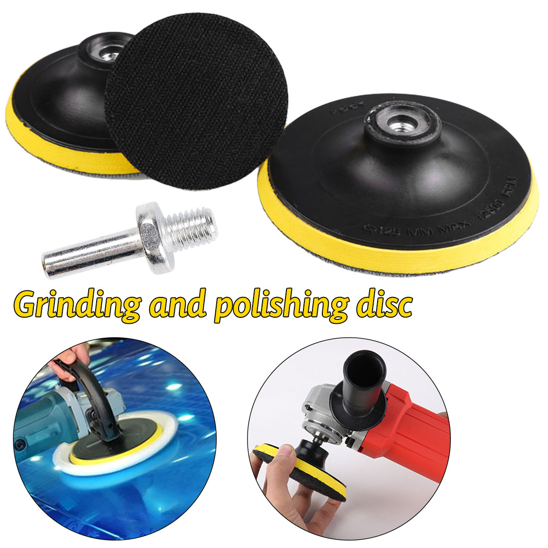 Polisher Machine Polishing Disc Sander Disc Disk Sandpaper Self-adhesive Sand Paper Pad Abrasive Tool With 8mm Diameter Drill