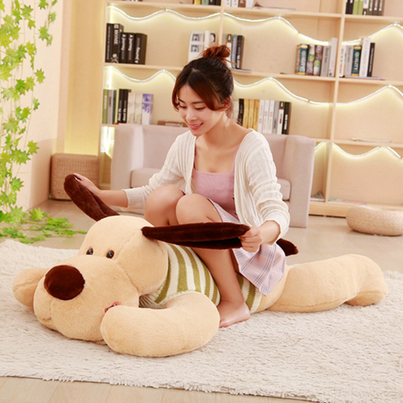 1PC 70/95/110cm Kawaii Stuffed Soft Plush Toy Giant Lies Prone Dog Doll Cute Pillow Creative Dolls Kids Toys Birthday Gift