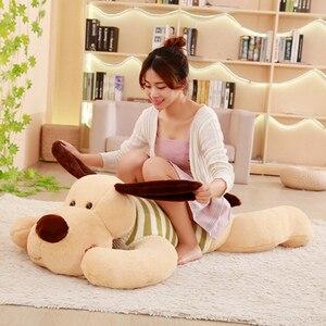 Image 1 - 1PC 70/95/110cm Kawaii Stuffed Soft Plush Toy Giant Lies Prone Dog Doll Cute Pillow Creative Dolls Kids Toys Birthday Gift