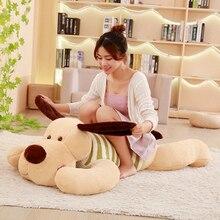 1PC 70/95/110cm Kawaii miękka wypchana pluszowa zabawka Giant Lies podatna pies lalka śliczna poduszka kreatywne lalki dla dzieci zabawki urodziny prezent