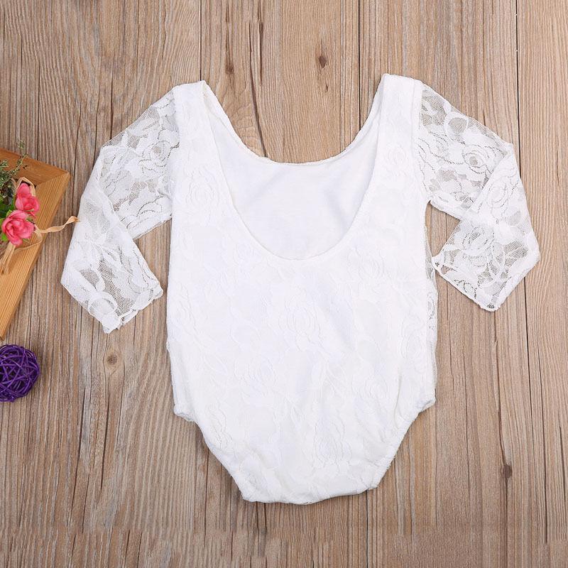 Frank Kleinkind Mädchen Bodys Spitze Tops Langarm Nette Floral Overall Overall Kleidung Baby Mädchen Outfits Waren Des TäGlichen Bedarfs
