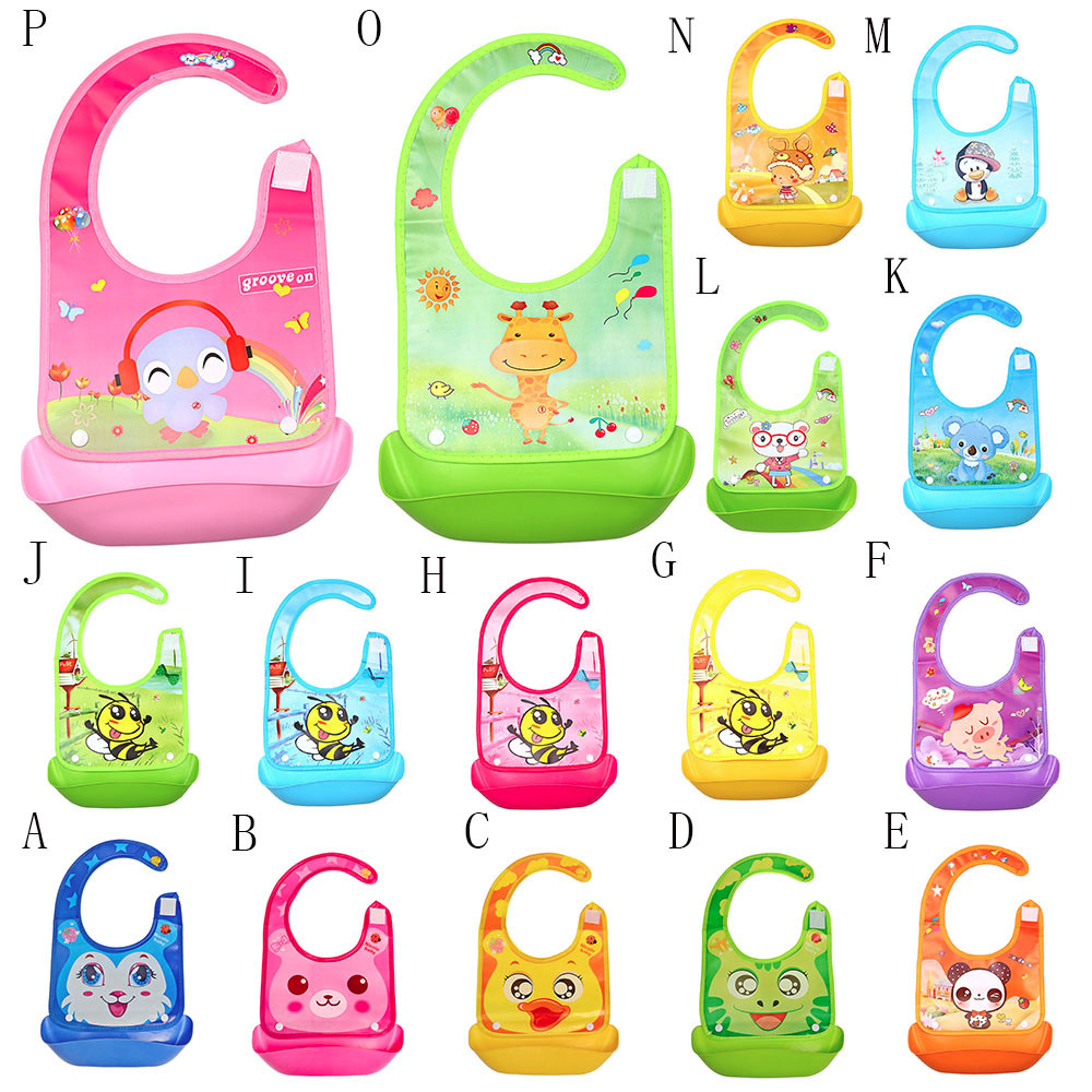 Cute Kid Infant Bibs Baby Soft Silicone Bib Waterproof Saliva Dripping Bibs Cartoon Baby Skin Aprons Silicone Bib cartoon lion pattern waterproof bib green yellow