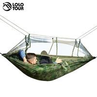 Ultrlight Outdoors Camping Hunting Mosquito Net Parachute Hammock 2 Person Flyknit Hamaca Garden Hamak Hanging Bed