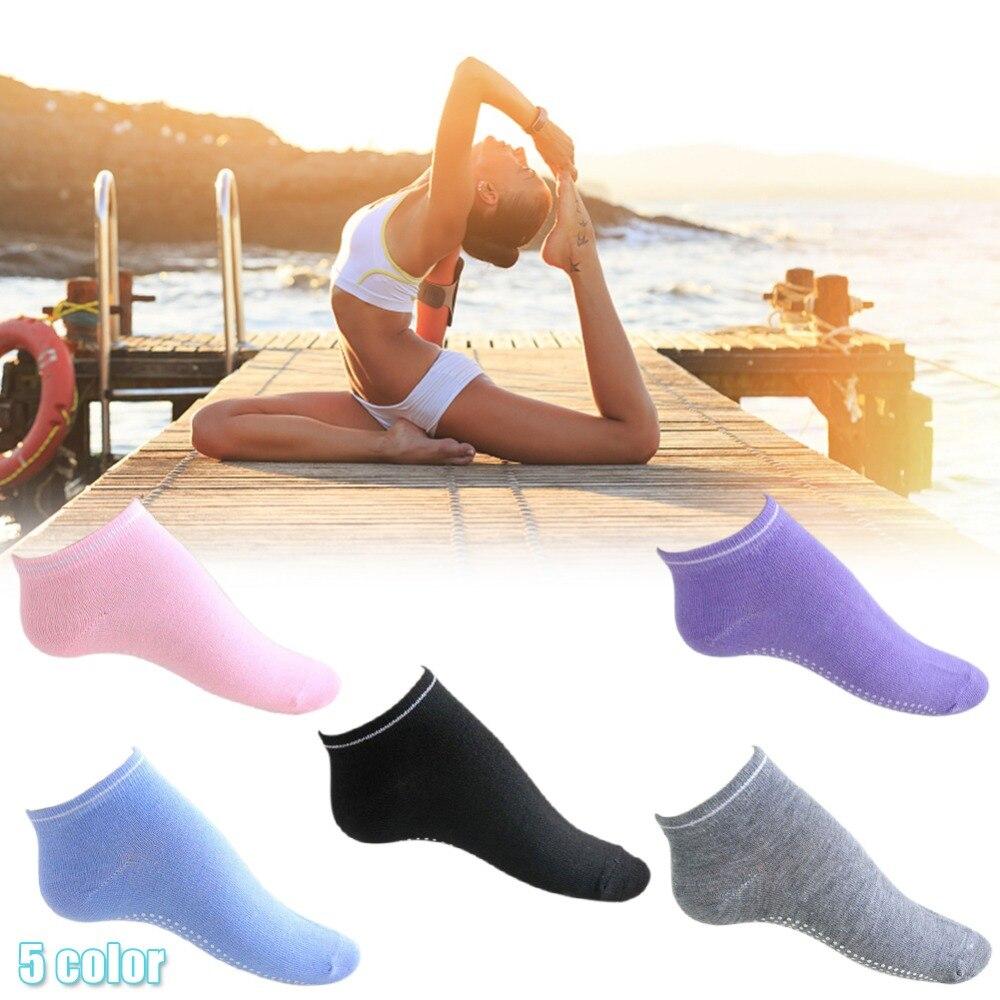 ✔  Женщины Фитнес Хлопок Тренажерный Зал Спортивные Носки Non Slip Массаж Йога Пилатес Носки 5 Цветов ①