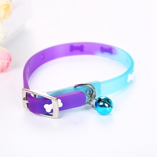 Puppy Cat Collar Pet Dog Cute Color Matching Three-dimensional Print Shape Traction With Bell Jewelry
