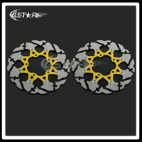 Motorcycle Gold Front Floating Brake Disc Rotor For GSXR600 GSXR750 GSXR1000 VZR1800 Motocross Dirt Bike Supermoto