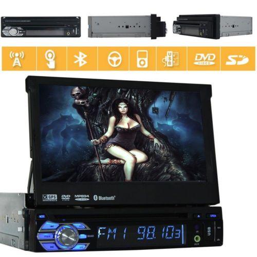 Один 1 Din Тюнинг автомобилей dvd-плеер Кассетный gps навигации радио монитор Bluetooth 7 дюймов автомобиля радио gps стерео USB SD сенсорный экран
