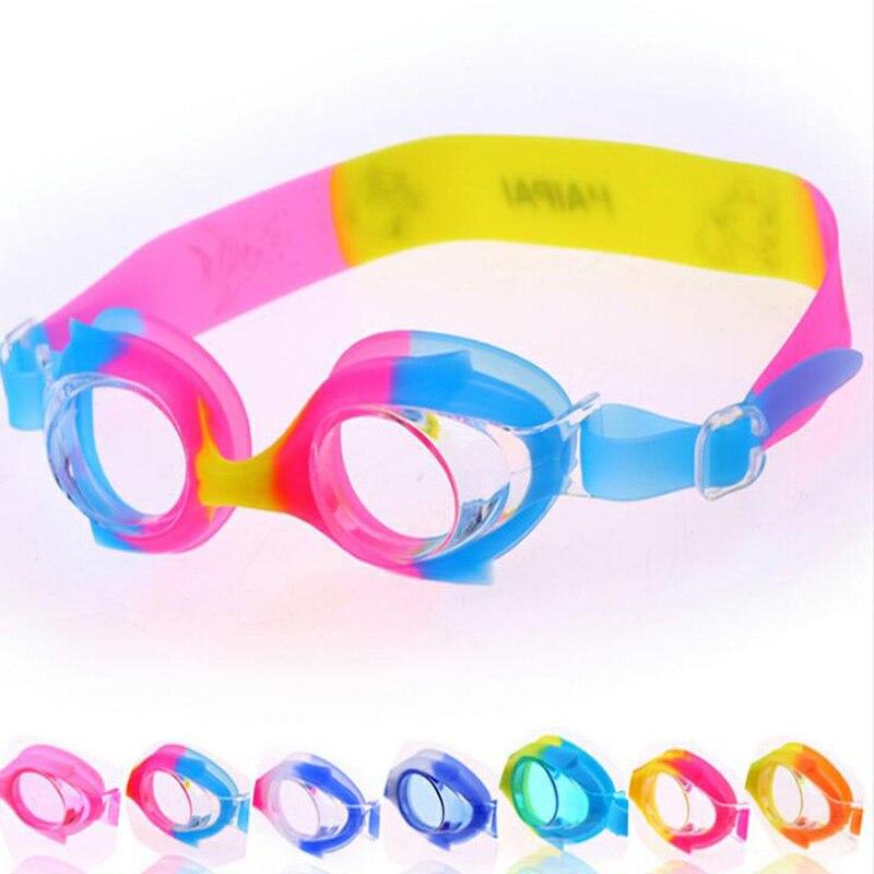 Cute Cartoon Fish Children Kids Boys Girls Silicone Gel Waterproof Anti fog Swim Pool Swimming Goggles Glasses Eyewear w/ Case