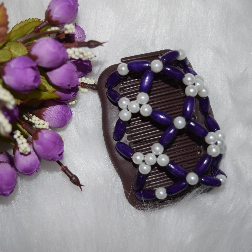 Dark purple Pearl flower beads Burgundy beads comb 20pcs/lot professional work lady hair accessory