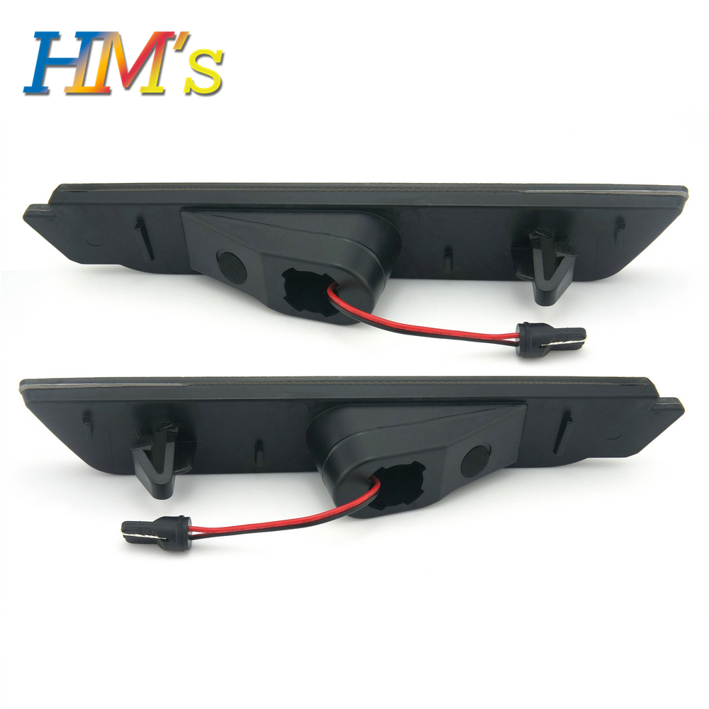 (Rear) For Chevy Camaro 2010 2011 2012 2013 2014 2015 Car Front Amber Rear Red Side Marker Lamps Turn Signals SMD LED Light (3)