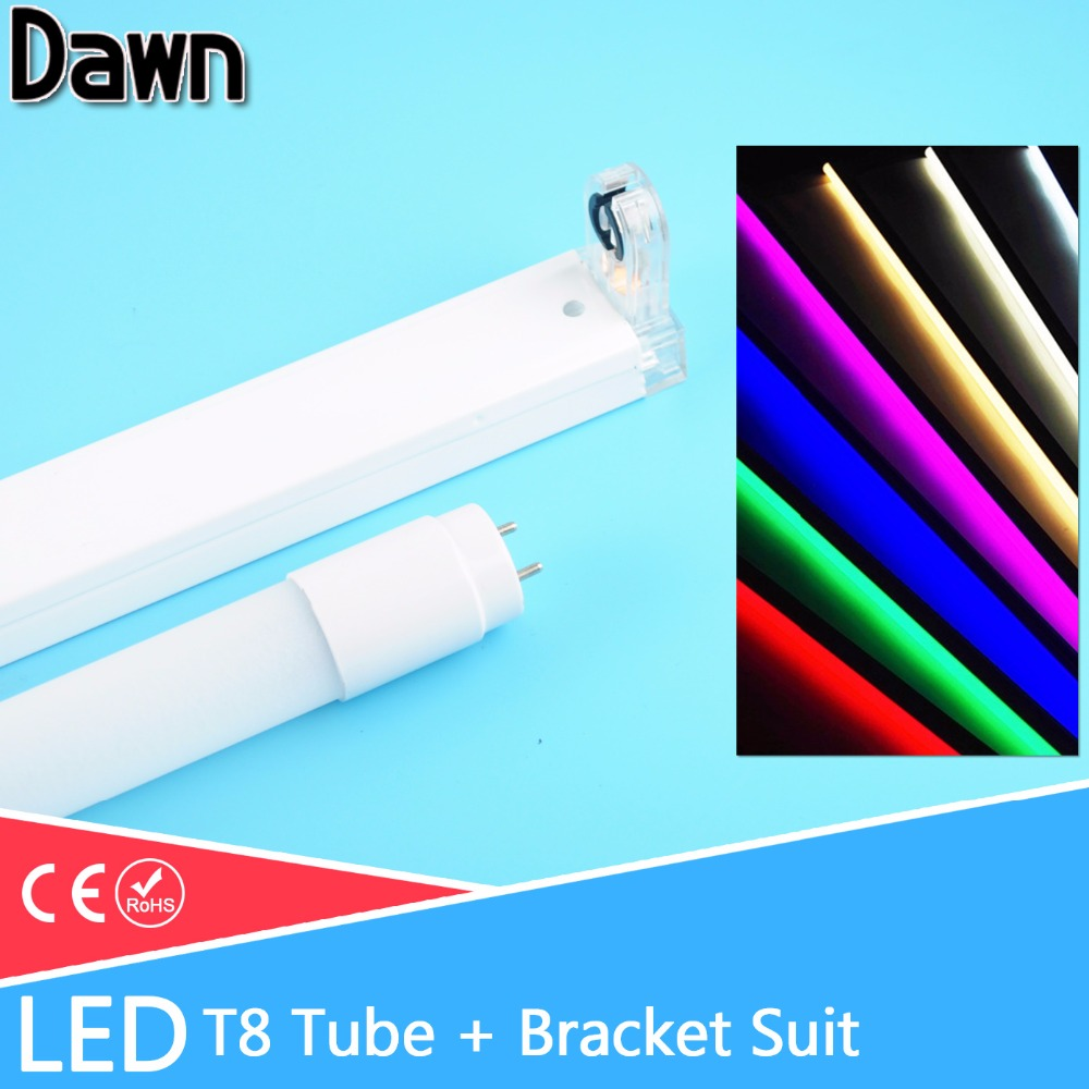 Set/Single LED Tube T8 / Folding Fixtures Bracket /10w 60cm 2Feet 220v Fluorescent Light LED Tube Bulb Lamp 600mm T8 Lighting energy savingt8 60cm led 10w fluorescent 40w equivalent tube replacement fluorescent lamp fixture no ballast no uv