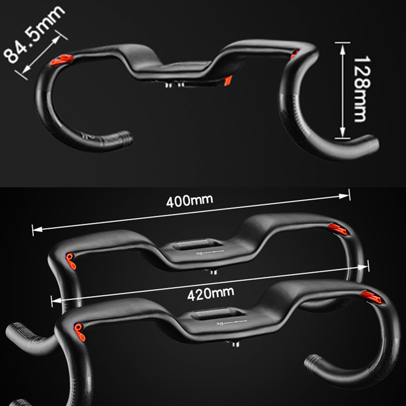 ROCKBROS MTB Cycling Road Bike Handlebar Bent Bar Ultralight Carbon Fiber Bicycle Handlebar 31.8*400/420mm Ciclismo Bicycle rockbros 2015 oculos ciclismo mtb 3 10016