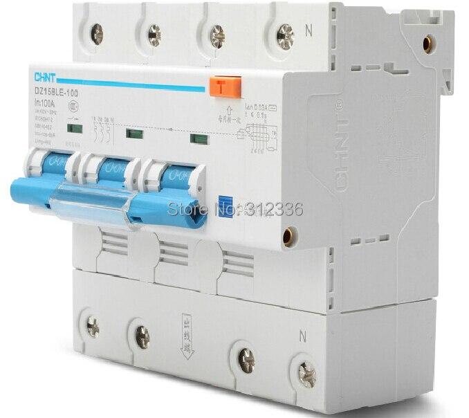 Бесплатная доставка два года гарантии DZ158LE 3 P + N 100A 3 поляки утечки остаточного тока