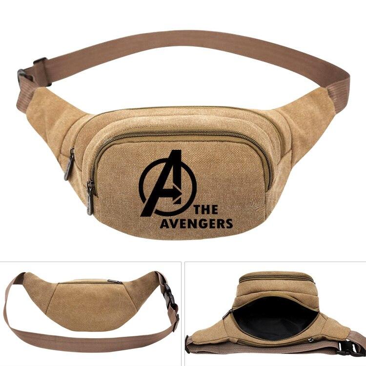 Bag Belt Phone-Belt-Bag Iron Thor Anime Super-Hero Canvas-Pack Women Pouch Money Travel
