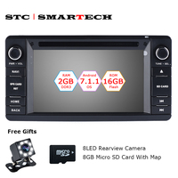 SMARTECH 2 Din Android 7 1 2 Car Dvd Player Gps Navigation Autoradio For MITSUBISHI OUTLANDER
