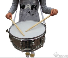 Original Henlucky Musical instruments  professional small Snare Army drum 14 inch stainless steel Music Team student sports