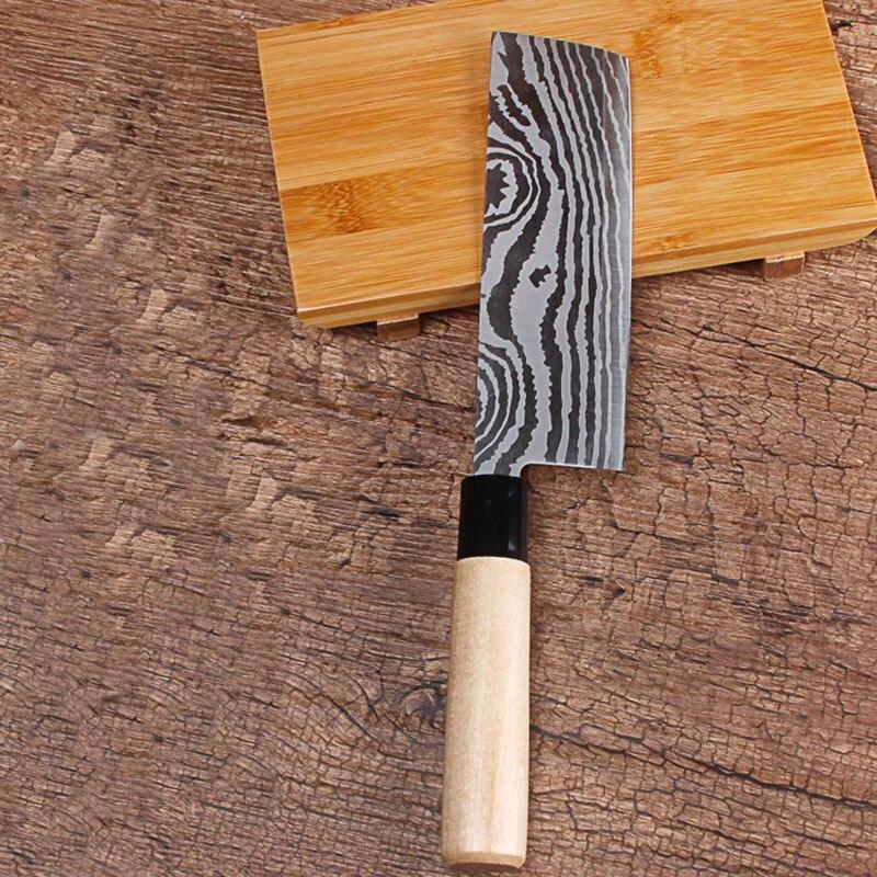 2017 Doprava zdarma LDZ Nerezová ocel Japonský styl Kuchyňský nůž Kuchař Krájení nožů Ovoce Zeleninové nože Nůž Santoku