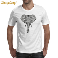 DongKing 2017 Fashion Summer POLYNESIAN ELEPHANT T Shirt Men S Personalized Custom Animal T Shirt High